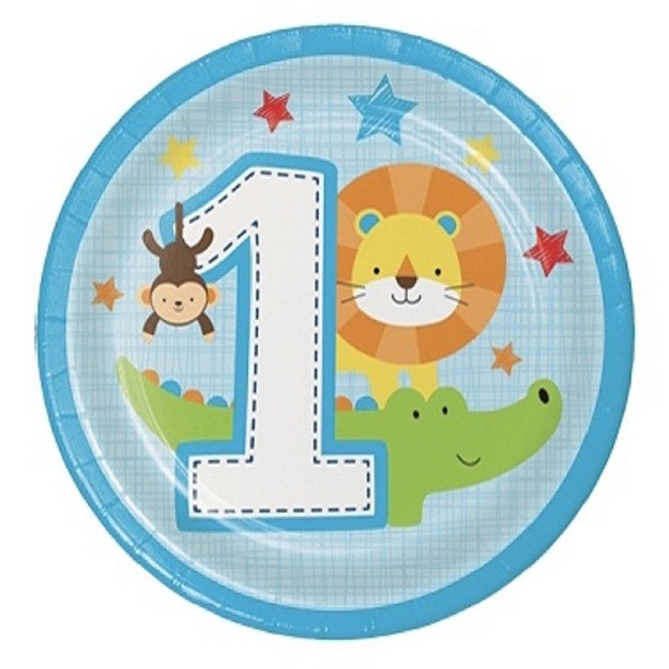 assiettes 1er anniversaire garçon safari premier anniversaire garçon jungle