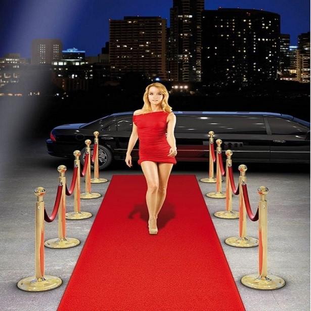 Tapis de fête VIP couleur rouge