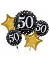 Bouquet de ballons anniversaire 50 ans aluminium