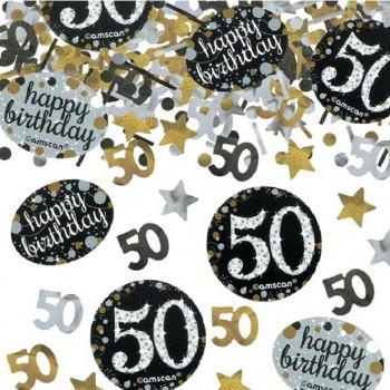 Confettis 50 ans anniversaire déco de table 50 ans en Suisse