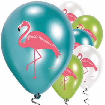 ballons flamants rose colorés
