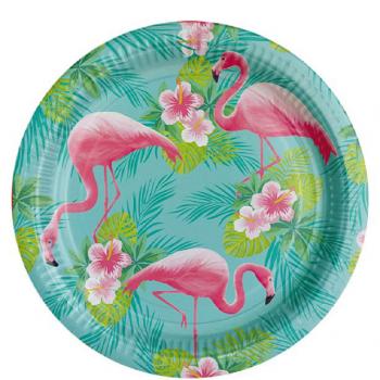 Assiettes flamingo flamant rose 23 CM