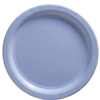 assiettes a dessert bleu clair en carton