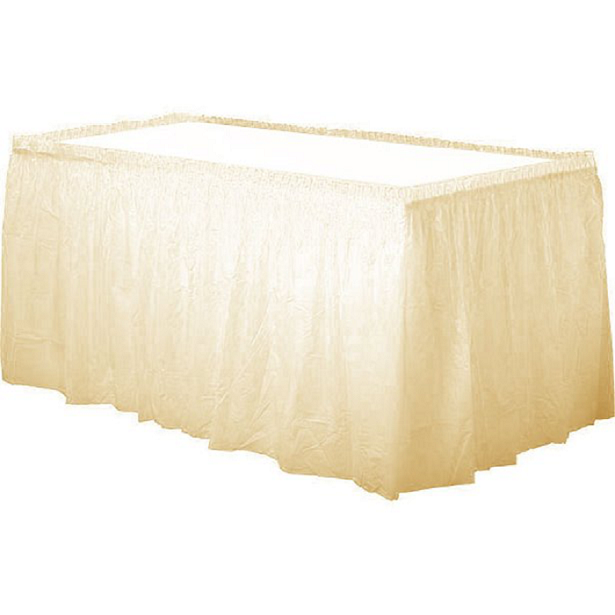 jupe de table ivoire crème