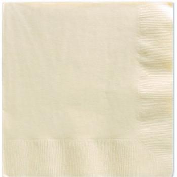 serviettes couleur ivoire creme