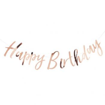 Kit d'anniversaire rose gold sur bellefete.ch