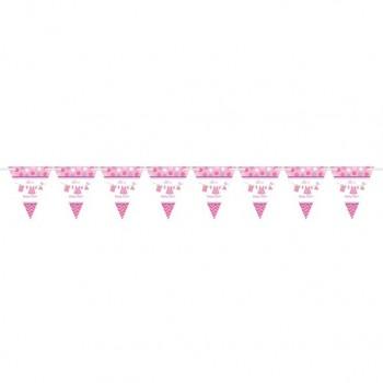 Guirlande baby shower rose c'est une fille guirlande fête prénatale rose fille