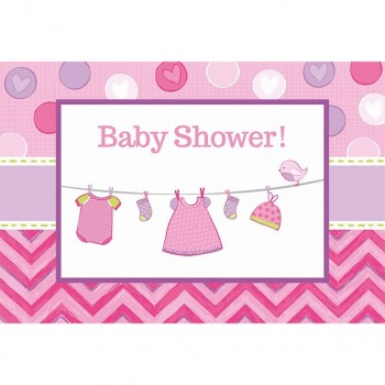 invitations baby shower fille