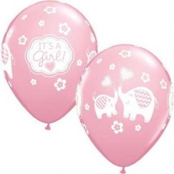 Ballons roses c'est une fille