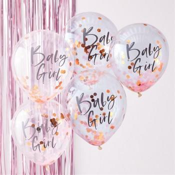 Ballons confettis douche de bébé en Suisse