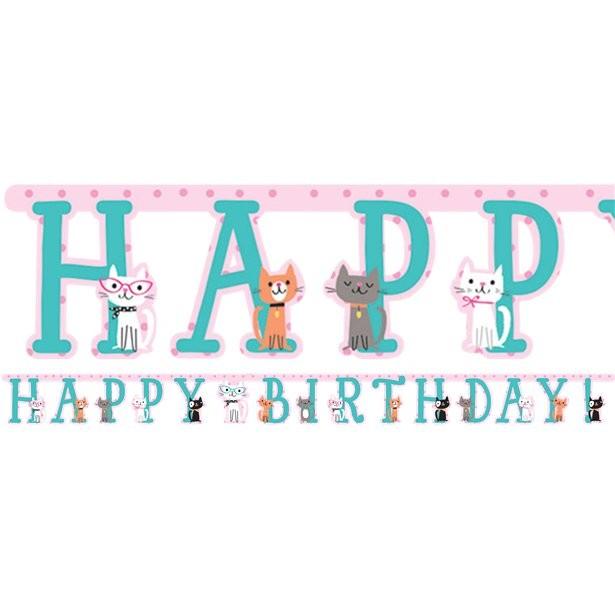 Bannière anniversaire thème de chat