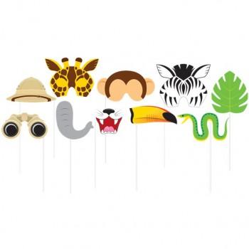 Accessoires photo animaux de la jungle