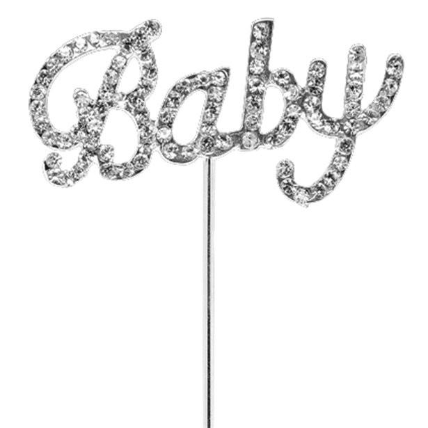 Pique bébé strass gâteaux baby shower