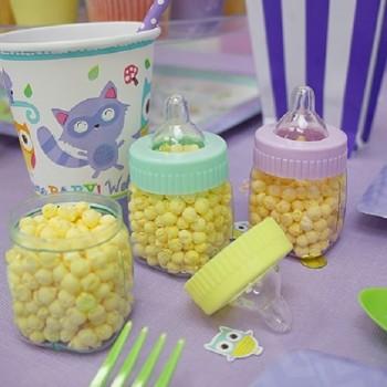 Biberons  baby shower foret fête prénatale