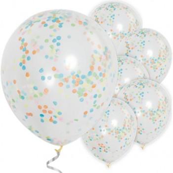 Ballons à confettis multicolores déco de salle