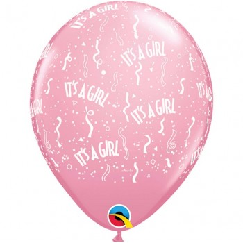 BALLONS ROSES IT'S A GIRL