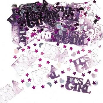 Confettis roses c est une fille
