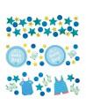 Confettis décoration de table baby shower bleu garçon