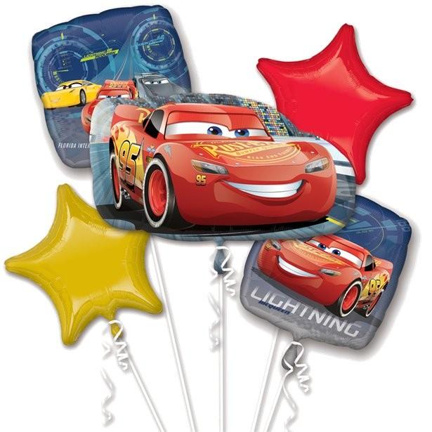 Bouquet de ballons anniversaire mcqueen cars