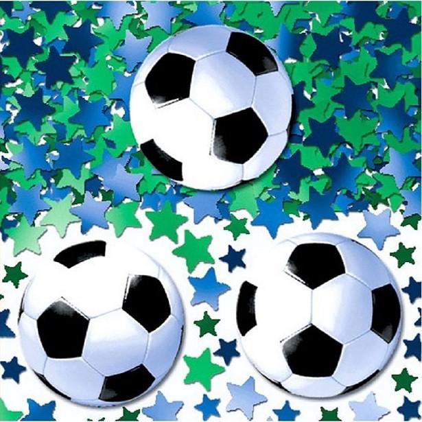 Confettis anniversaire football