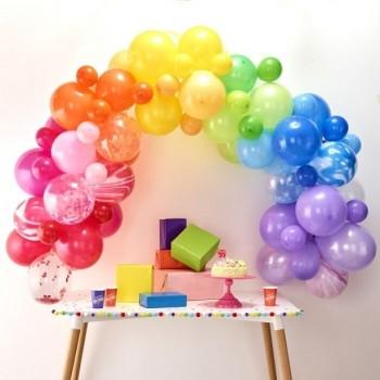 arche de ballons arc-en-ciel