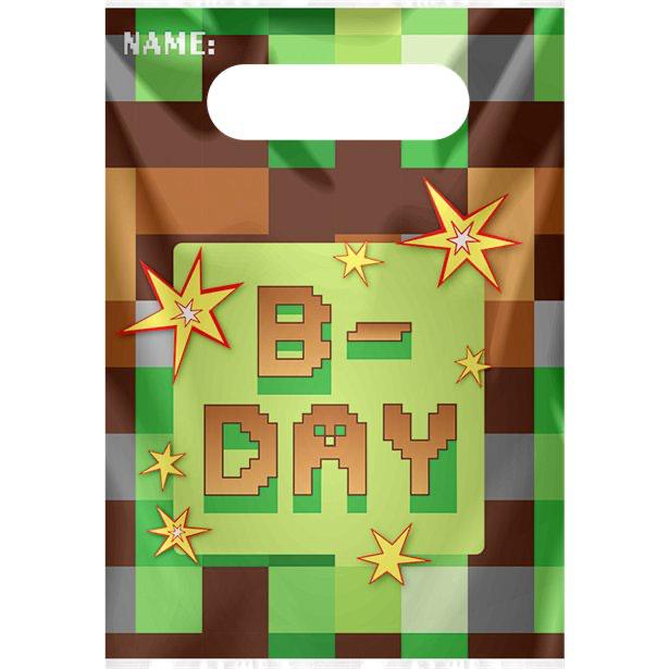 Sacs à cadeaux anniversaire Minecraft