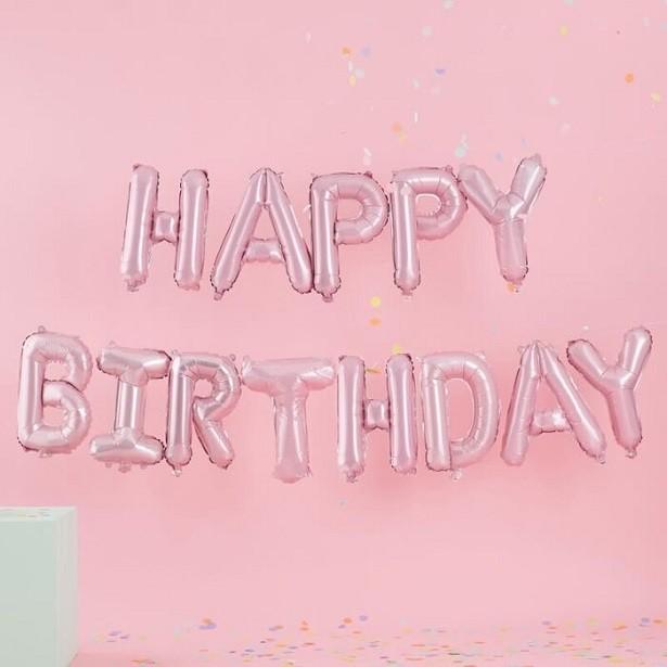 guirlande d'anniversaire rose en suisse pas cher