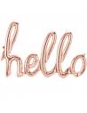 BALLON PHRASE HELLO ROSE GOLD