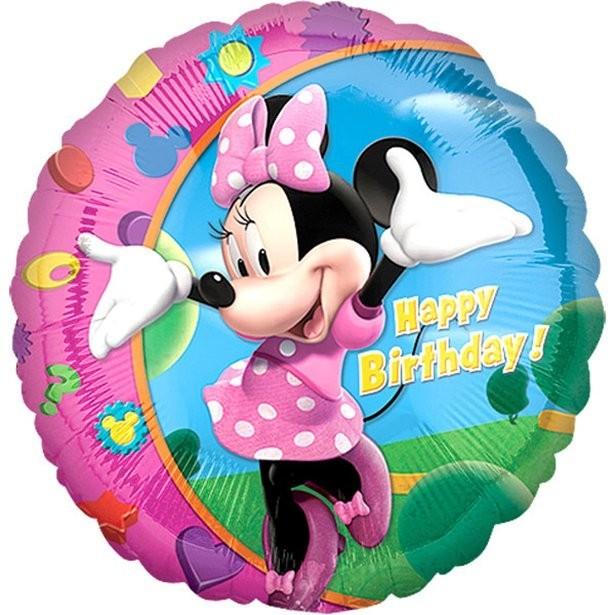 Ballon anniversaire minnie mouse