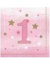 serviettes petites 1er anniversaire fille