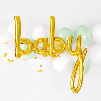BALLON ALU BABY EN OR EN SUISSE