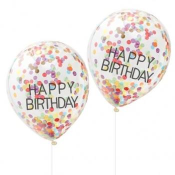 BALLONS ARC EN CIEL HAPPY BIRTHDAY EN SUISSE