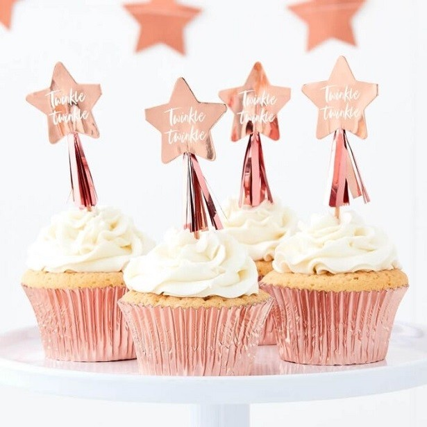 PICS A CUPCAKE ETOILE ROSE GOLD