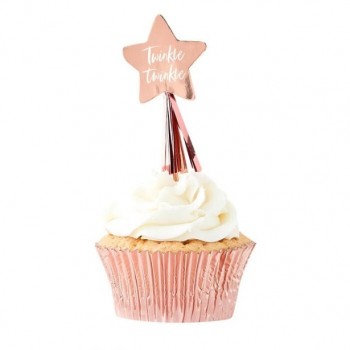 PIQUES A CUPCAKE ETOILE ROSE GOLD