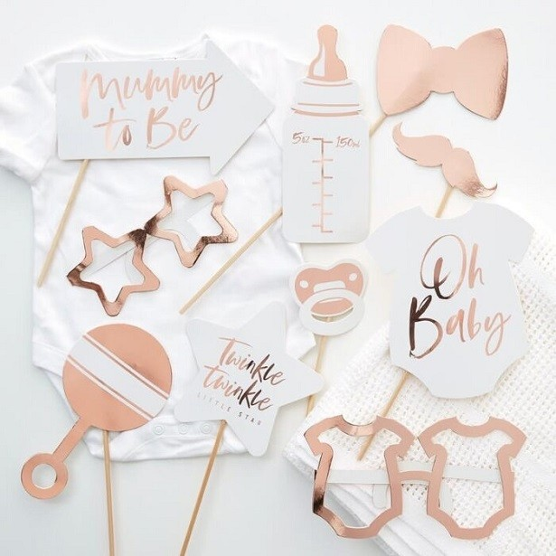 ACCESSOIRES PHOTO BABY SHOWER ROSE GOLD