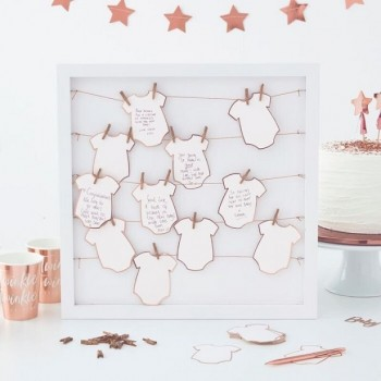 LIVRE D'OR BABY SHOWER ROSE GOLD
