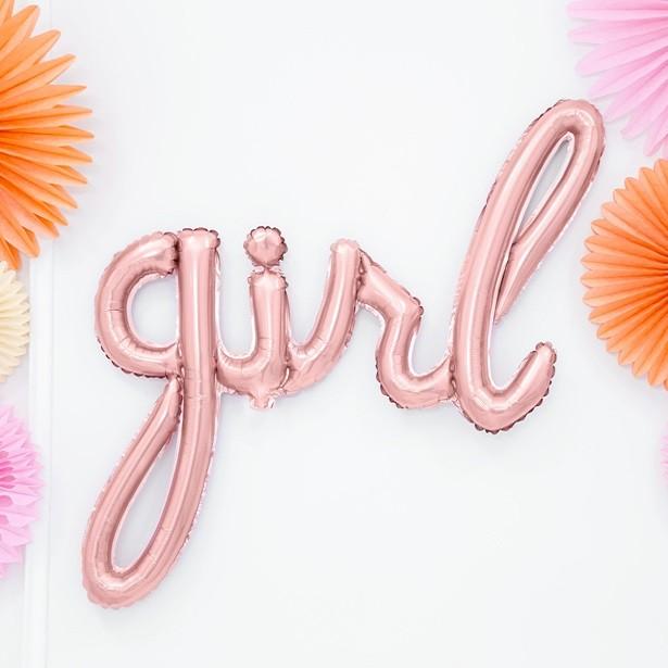Ballon chic tendance rose or fille girl