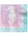 serviettes petites mermaid sirene pas cher