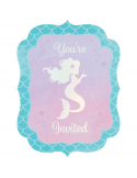 cartes d'invitation anniversaire mermaid sirene