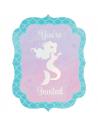 cartes d'invitation anniversaire mermaid sirene