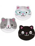 assiettes en forme de chats