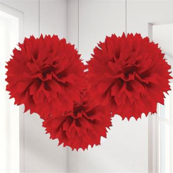 pompons en papier decorations rouge en suisse