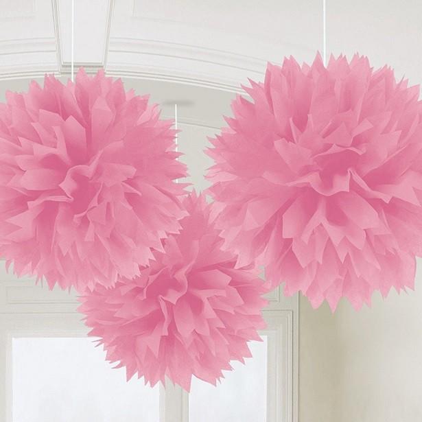 pompons rose clair decorations de fete en suisse