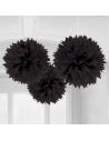 pompons en papier noir deco de fete en suisse