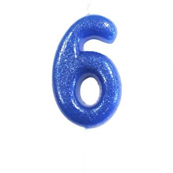 bougie numero 6 pas cher en suisse bleu