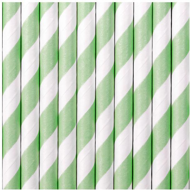 Pailles à rayures vert menthe pas cher en Suisse