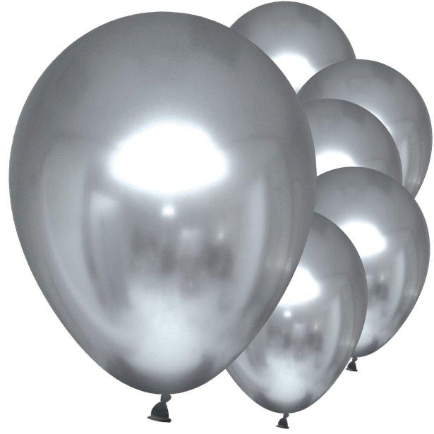 ballons effet miroir argentes en suisse