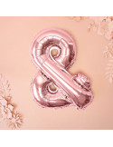 ballon en forme de & rose gold