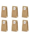 sacs en papier kraft avec autocollants
