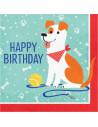 serviettes happy birthday theme chiens